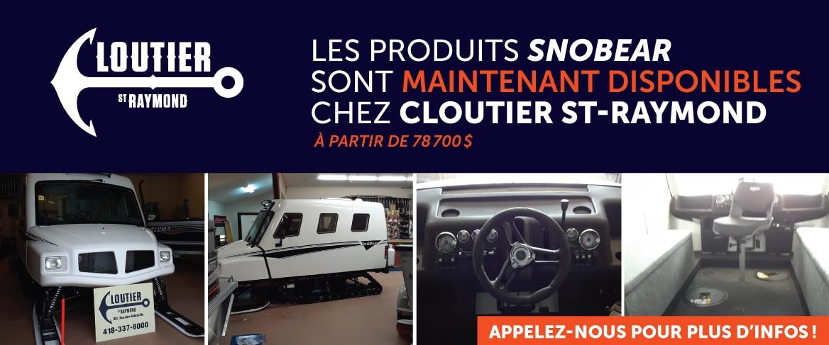 Les produits SnoBear sont maintenant disponibles chez Cloutier St-Raymond
